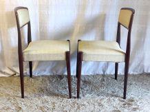 Duo de chaises en teck style scandinave – années 60