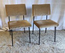 Duo de chaises modernistes par G. Guermonprez pour Magnani –