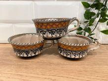 3 tasses en céramique Cecconi