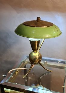 lampe atomic tripod 1950 , 20x25 ,  dans le gout de jacque b
