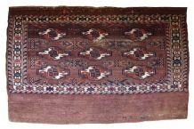 Tapis ancien Turkmène Yomud fait main, 1B601