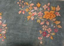 Tapis ancien Chinois Art Deco fait main, 1B620