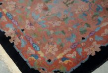 Tapis ancien Chinois Art Deco fait main, 1B636