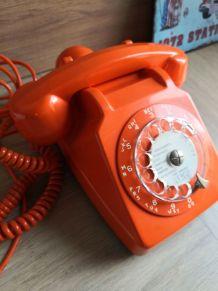 Téléphone socotel orange vintage
