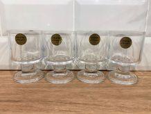 Set de 4 verres à pied cristal d'Arques