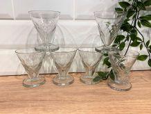 Set de 6 verres coniques art-déco