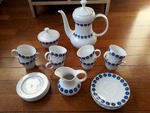 Service à café vintage en céramique allemande