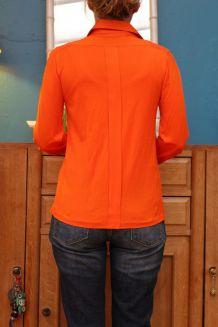 chemise orange courreges année 60 70