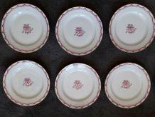 6 assiettes à dessert art-déco Limoges