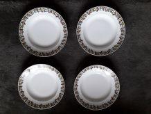 4 assiettes Limoges des années 50