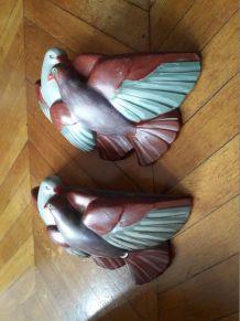 Une paire d'appliques oiseaux des années 30