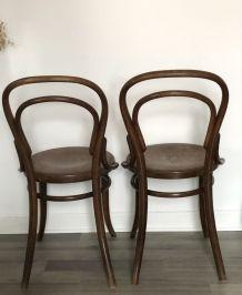 Paire de chaises bistrot 1900