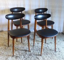 Chaises « Licorne » par Baumann – années 70/80