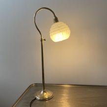 ANCIENNE LAMPE DE BUREAU COL DE CYGNE VINTAGE