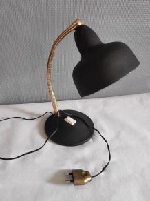 lampe de bureau cocotte noire et dorée