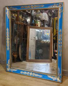 grand miroir 1930   au mercure art deco 96x80 belle patine