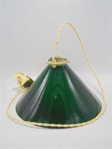 Suspension conique en opaline verte