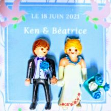 Cadre Playmobil, mariage, noms, date, personnalisable