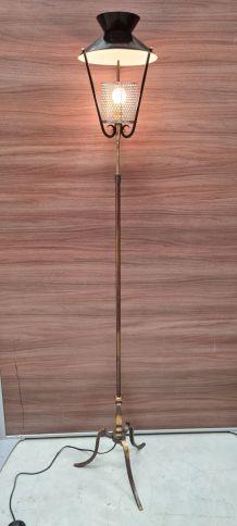 lampadaire  diabolo réglable 1950 a 60 pied bronze Dans le g