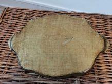 Ancien plateau en bois motif victorien année 60-70