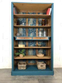 Bibliothèque ou meuble étagères ancien