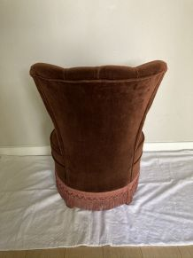 Fauteuil crapaud velours