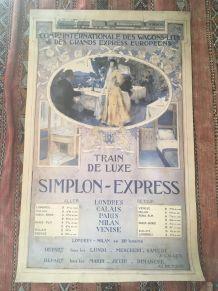 Grande affiche Compagnie internationale des wagons- lits.