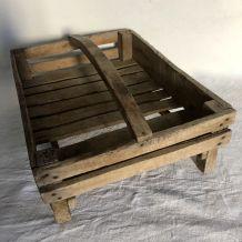 Clayette en bois avec poignée, panier de jardin