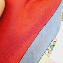 Foulard polyester décor femme