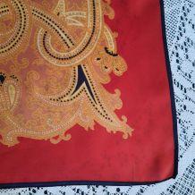 Foulard polyester décor orange