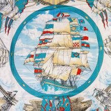 Foulard polyester décor bateaux