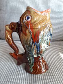 Vase vintage Vallauris en forme de poisson