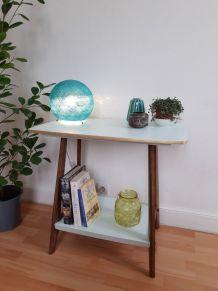 Table d'appoint vintage relookée