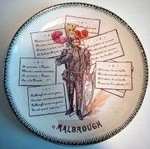 "Assiette chanson ""Malbrough"""
