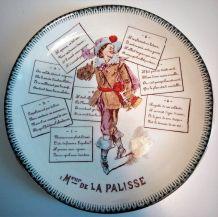 """Assiette chanson """"M. de La Palisse"""""""