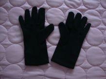 Gants de femme T7 en tissu satiné doublé tissu