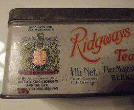 ancienne boite métal pour le thé