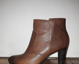 Bottines à talon marrons