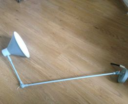 Lampe applique articulée scandinave bleu clair