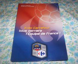 COFFRET  PUB CARREFOUR FOOT BALL EQUIPE DE FRANCE MAGNETS