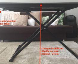 Table basse multi position