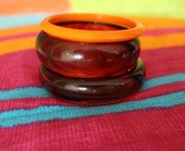 lot bracelet jonc plastique fantaisie vintage