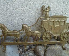 Accroche-clés rustique  en  laiton , vintage 1950
