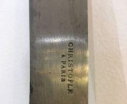 Ancien couteau à fromage Christofle en argent