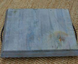 Plateau rectangulaire gris patiné ancien