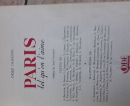Paris tel qu'on l'aime