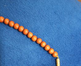 Collier effet dore style africain