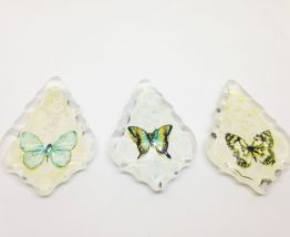 Magnets pampilles  verre papillon