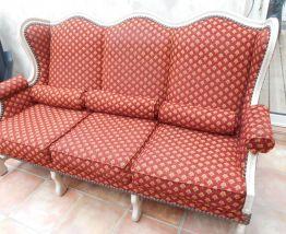 Canapé fixe en tissus