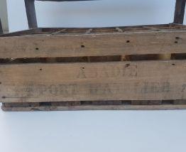 Casier à bouteilles vintage en bois